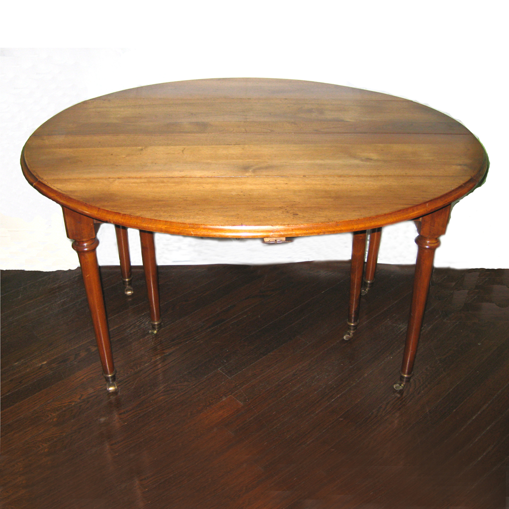 dining room table drop leaves french directoire mahogany antique 18th